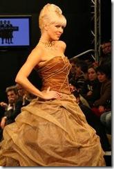 Vestidos de noiva de Cristina Lopes - Vestido de casamento castanho - Estilistas criadores de moda portugueses portugal 2010