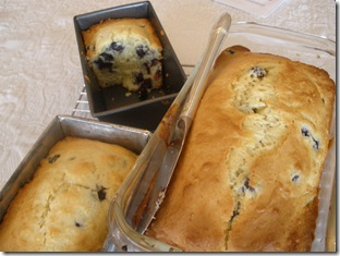 Blueberry Bread Baked