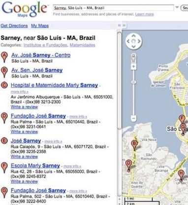 mapa sarney