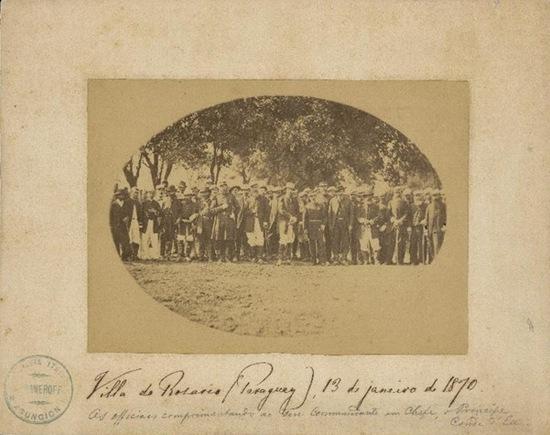 Conde d'Eu e outros oficiais brasileiros que participaram da Guerra do Paraguai