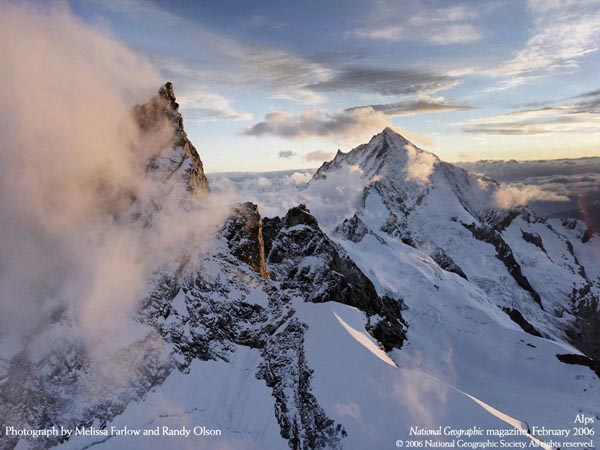 National Geographic Magazine - February 2006 - Alps - Photograph by Melissa Farlow and Randy Olson
