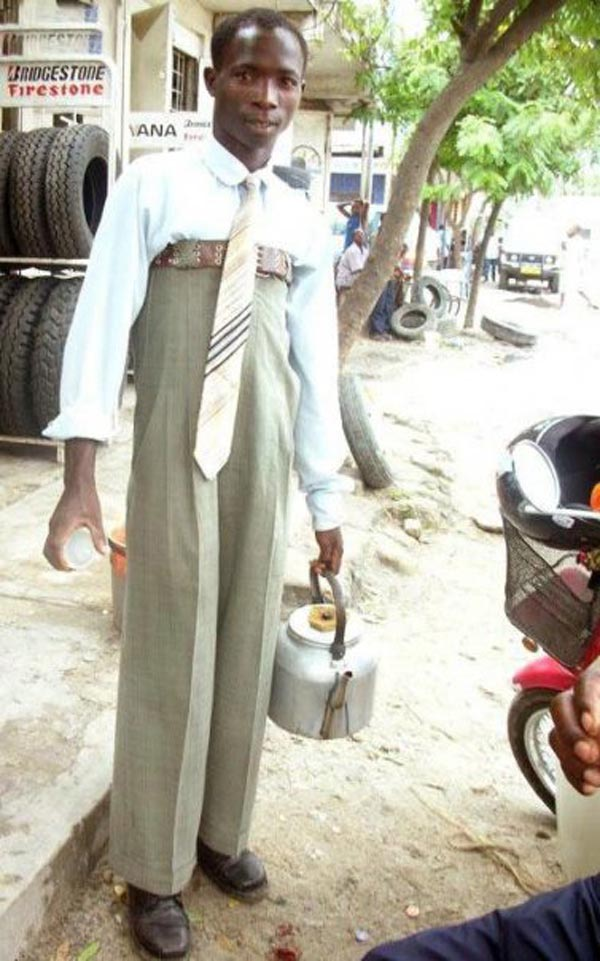 Photos that need no words to laugh - Longest pants