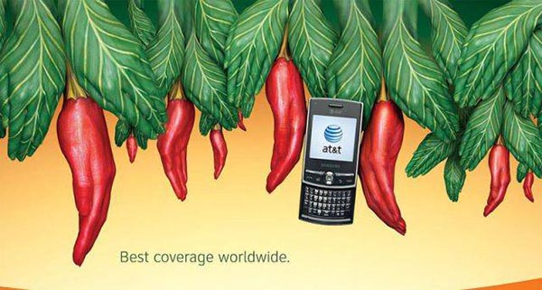 23 creative ads by AT&T [hand-modelling advertisements] - Red chillies