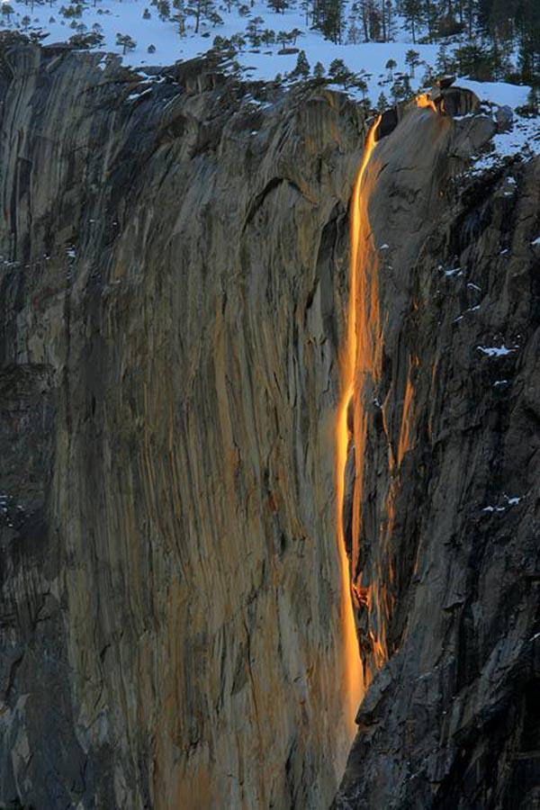 Lava fall at Yosemite National Park