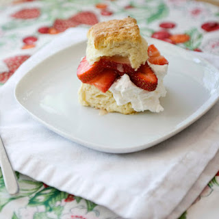Strawberry Shortcake with Honey Lemon Cream