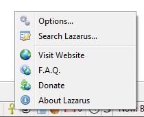 Меню дополнения Firefox Lazarus