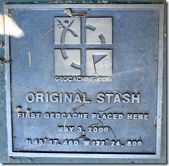 original cache plaque