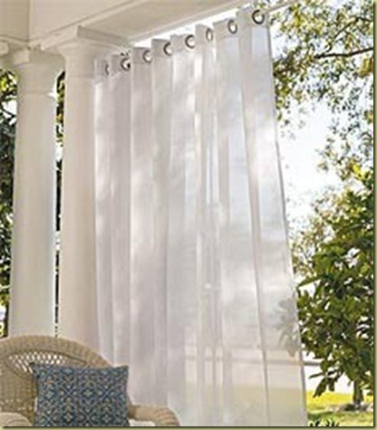 grommet outdoor draperies
