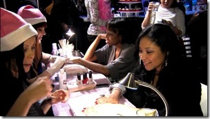 Manicures shape by Ms Manicure and Nails polished by Dashing Diva