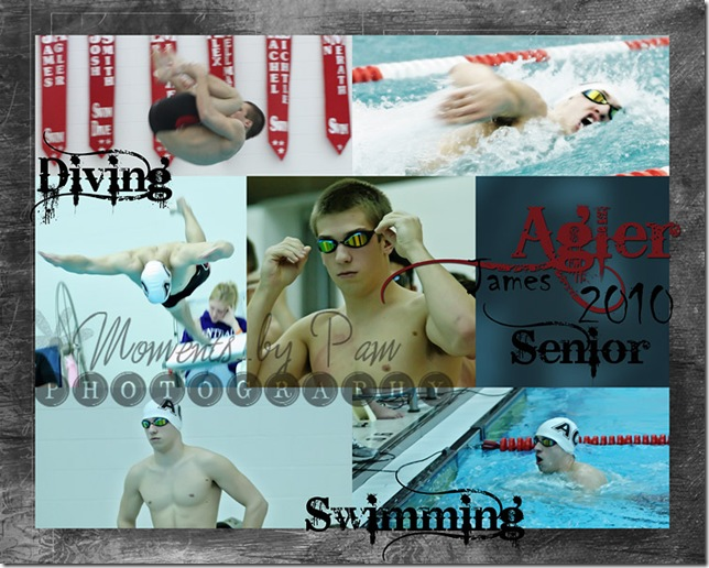 James swimming collage copy