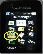 Sony Ericsson - File Manager