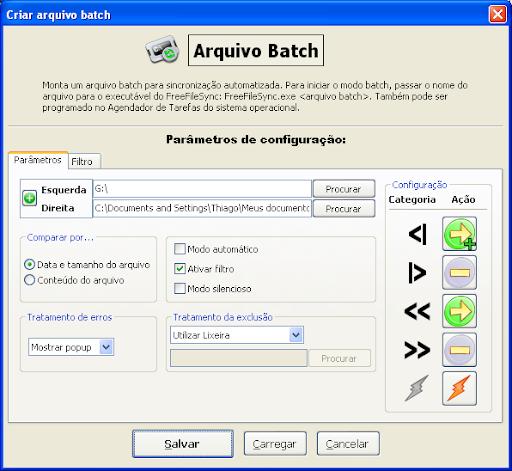 criação do arquivo batch no freefilesync