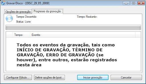 cdburnerxp progresso da gravacao