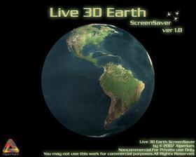 protetor de tela live 3D earth