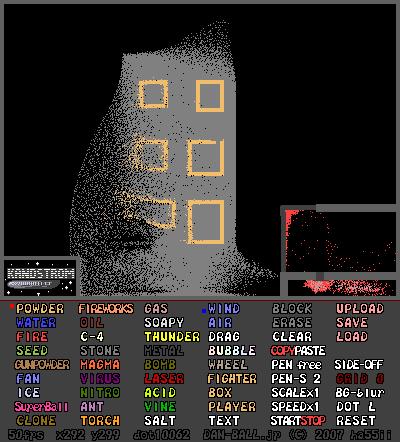 jogo simulador de ambientes powder game