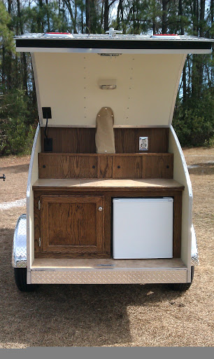 T3 Sport Trailer Rear View with Refrigerator