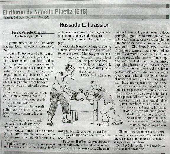 Coluna Naneto Pipeta no Jornal Correio Riograndense