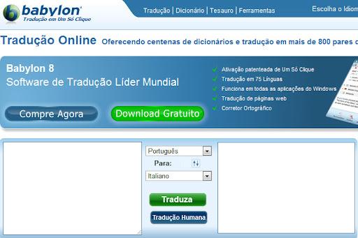 Tradutor de textos Babylon online