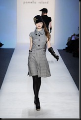 Pamella Roland Runway Fall 2010 MBFW daywear with cloche