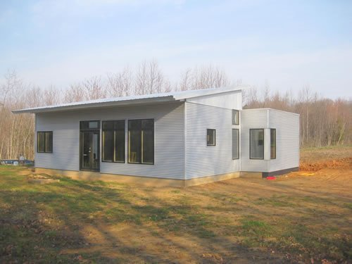 Prefab homes passive solar house kits green modern kits for Prefab concrete house
