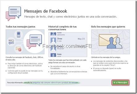Tener tu propio correo en Facebook