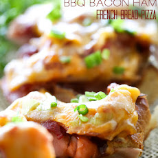 Man Pleasing BBQ Bacon Ham French Bread Pizza