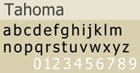 Popular Web Fonts Used in Web-Safe Design Tahoma