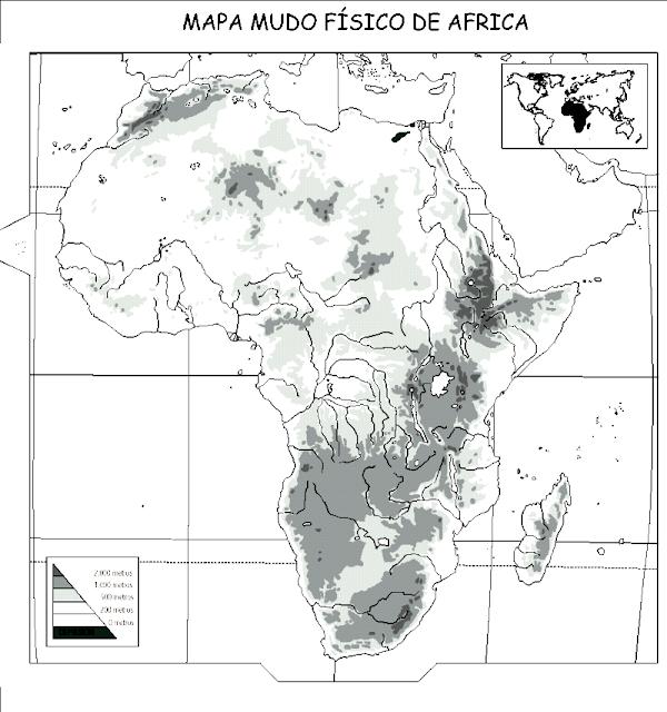 MAPA DE AFRICA PARA COLOREAR