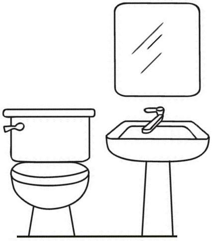 dibujos de muebles para colorear