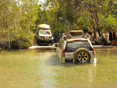 4x4 stuck Nolan's Brook, Old Telegraph Track, Cape York