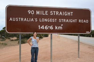 Sign Post Longest Straight Road Nullabor Crossing South Western Australia
