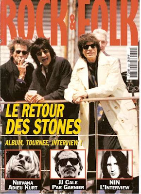 The Rolling Stones en couverture de Rock & Folk en 1994