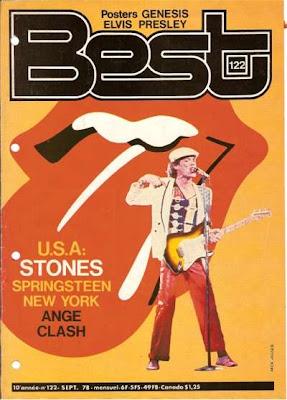Mick Jagger en couveture de Best en 1978