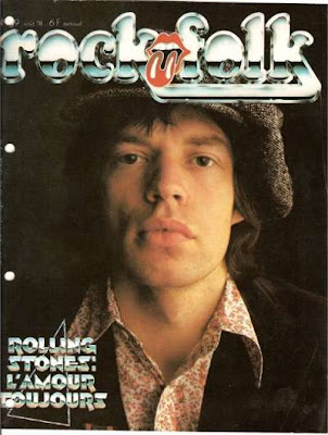 Mick Jagger en couverture de Rock & Folk en 1978