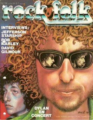 Bob Dylan en couverture de Rock & Folk en 1978