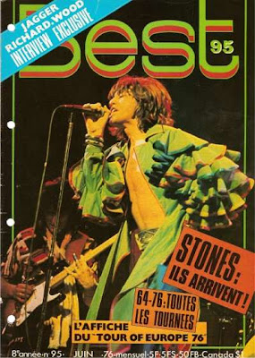 The Rolling Stones en couverture de Best en 1976