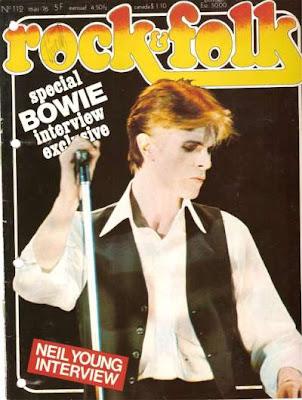 David Bowie en couveture de Rock & Folk en 1976