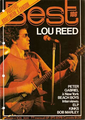 Lou Reed en couverture de Best en 1977