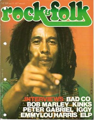 Bob Marley en couverture de Rock & Folk en 1977
