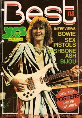 Chris Squire en couverture de Best en 1977