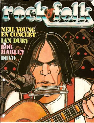 Neil Young en couverture de Rock & Folk en 1979