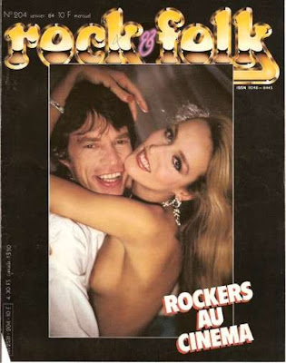Mick Jagger en couverture de Rock & Folk en 1984