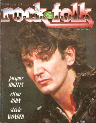 Jacques Higelin en couveture de Rock & Folk en 1984