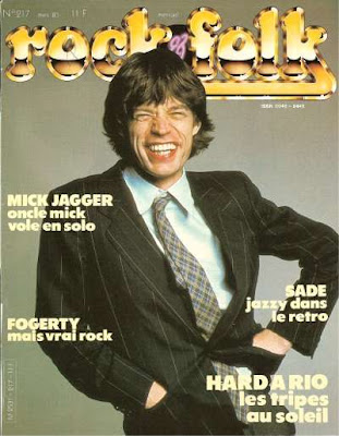 Mick Jagger en couverture de Rock & Folk en 1985