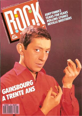 Serge Gainsbourg en couverture de Rock & Folk en 1989