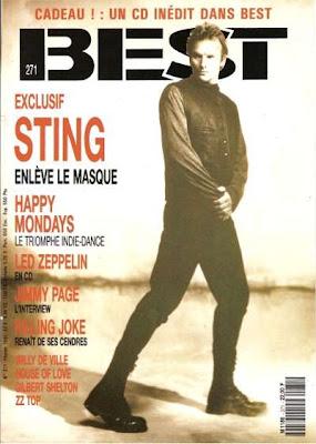 Sting en couverture de Best en 1991