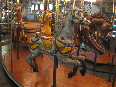 It has a full sized carousel
