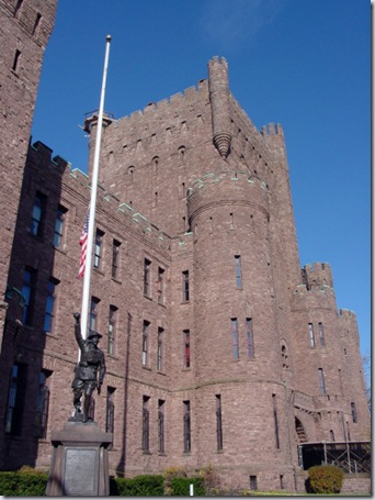Doughboy in Front of Connecticut Street Armory
