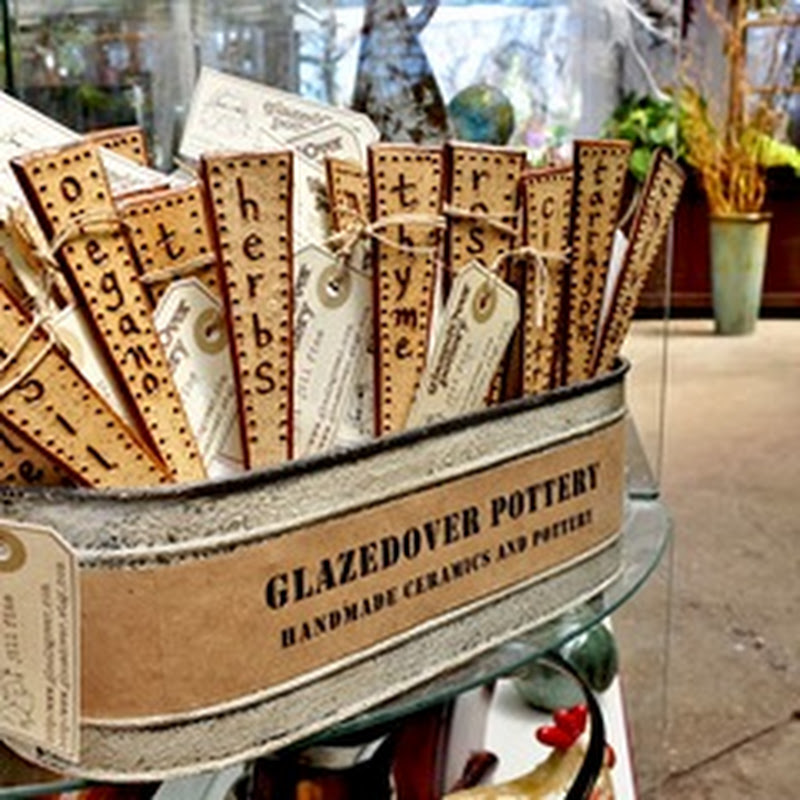Outdoor Decor - Rustic Garden Stakes by glazedOver Pottery