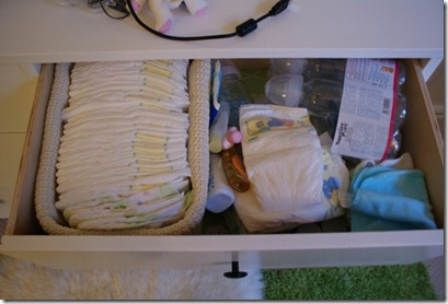 diaper drawer